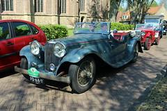 1936 Jaguar Tourer (Davydutchy) Tags: auto classic car automobile ride rally may convertible bil oldtimer frise jaguar cabrio friesland cabriolet bolsward tourer 2016 klassiker klassiek frysln elfstedentocht frisia vetern automobiel boalsert pd6811