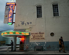 Mayflower Cafe (VarietyHour) Tags: sign restaurant cafe neon outdoor