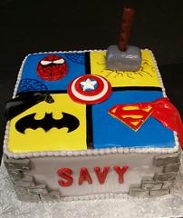 Superhero cake (dragosisters) Tags: cake spiderman superman superhero batman thor captainamerica