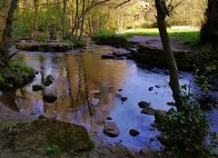 Waterscape... (Keefy243) Tags: park sculpture reflections river landscape chair open steel area rivelin waterscape