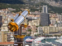 Monaco Telescope (Johnners61) Tags: city urban blur france tower pen landscape boats boat town cotedazur riviera view bokeh harbour yacht steel montecarlo monaco telescope chrome highrise yachts brass olympuspen viewpoint southoffrance shining polished gleaming principality m43 mft backgroundblur oympus principaut 40150 principautdemonaco olympus40150mm epl1