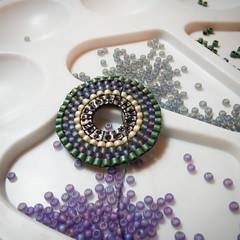earrings work process (victoria_beads) Tags: beautiful beauty circle beads women handmade embroidery jewelry bracelet ukrainian beadwork seedbeads beadcrochet japanbeads circleearrings victoriabeads