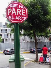 Que el arte no pare (D11 Urbano) Tags: art sticker arte venezuela caracas sueos urbano lucha venezolano arteurbano d11 streetartvenezuela artvenezuela d11streetart arteurbanovenezuela d11art d11urbano