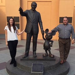 Hanging out with Kristin, Walt  & Mickey tonight before dinner (jp.anderson) Tags: mouse disney mickey burbank studios walt instagramapp uploaded:by=instagram