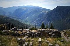 Ancient Delphi (kendo1938) Tags: mountains landscape ruins delphi greece valley grc ancientdelphi phocis