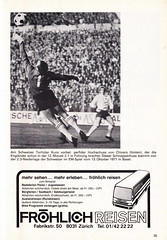 Switzerland vs England - 1981 - Page 37 (The Sky Strikers) Tags: world england cup st schweiz switzerland official basel 150 jakob fr programme offizielles programm qualifier fussballstadion