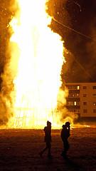 Winter Farewell (JHopley) Tags: orange fire sony flames silhouettes burning bonfire heat blaze 1855mm feuer funken nex funkenfeuer nex5