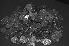 2014_1118Spare-Change-B&W0006 (maineman152 (Lou)) Tags: november bw coin coins maine change bwphoto blackandwhitephoto madmoney rainydayfund christmasstashofcoins savedpocketchange