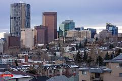 Random Calgary (Rob Moses) Tags: city urban canada calgary tower zeiss skyscraper buildings prime apartments metro sony 55mm alberta innercity condos neighbourhood yyc mirrorless nex7