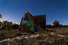 A-Frame (GnarlyRelics) Tags: longexposure light sky urban usa moon house lightpainting building rotting night america painting stars lost photography lowlight nikon long exposure paint texas decay tx urbandecay low wideangle structure tokina explore forgotten urbanexploration frame moonlight exploration f28 abandonment aframe urbex lightpaint d7100 1116mm