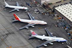 Cargo Line up at LAX (Mark Harris photography) Tags: aircraft cargo boeing lax spotting