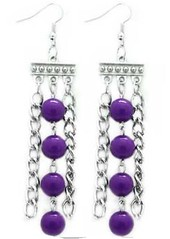 Glimpse of Malibu Purple Earrings P5420A-3