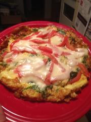 Spinach and Tomato Frittata with Fresh Mozzarella. (bnichnadowicz) Tags: tomato fresh eggs spinach mozzarella frittata