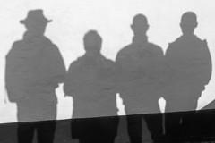 Die Vier - The four (AxelN) Tags: shadow bw silhouette shadowplay dnemark schatten schattenspiel schattenriss silhouetten regionnordjylland lgstrkommune