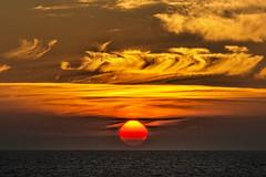 Flaming Norwegian Sunset (Ian@NZFlickr) Tags: travel sunset norway circle boat ship arctic h hurtigruten