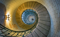 A Few More Stairs (Gikon) Tags: light lighthouse colors architecture stairs spiral nikon colorful decay details textures 1855mm penmarch gikon deckmul d3100