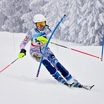 Lena Liljedahl racing Slalom at Red Mtn PHOTO CREDIT: Lesley Chisholm
