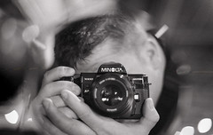 Seeing Me (Tom Frundle) Tags: me analog self myself 50mm mirror dof d76 scanned v600 selfie shallowdof 2014 filmphotography 5017 maxxum7000 minoltamaxxum7000 filmisntdead epsonv600 5017af