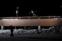 Cody Kyle Potter (AWDPWNZ) Tags: urban snow streets night snowboarding nikon colorado action extreme snowboard co snowboarder destroy shred strobist