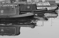 Old Barges (TB IMAGES) Tags: bw monochrome docks canon boats eos canal blackwhite somerset bridgwater barges 550d