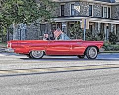 Patriotic Bird (augphoto) Tags: auto red unitedstates flag southcarolina greenwood convertible patriotic vehicle thunderbird augphotoimagery