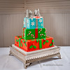 Here's the delightful cake from the Christmas-themed wedding of Alanna and Byron!