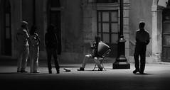 The accordion player - Siracusa - Sicily (Giuseppe Finocchiaro) Tags: people bw night square nikon nightshot accordion persone syracuse sicily piazza notte sicilia siracusa biancoenero ortigia musicista fisarmonica