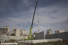 Shuafat refugee camp, East Jerusalem, 3.12.2014 (activestills) Tags: israel construction palestine jerusalem occupation eastjerusalem separationwall orenziv topimages shufatrefugeecamp shufatcheckpoint