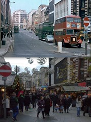 Lord Street, 1974 and 2014 (Keithjones84) Tags: liverpool thenandnow merseyside oldliverpool
