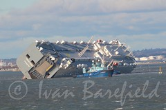 Hoegh Osaka Grounded in Solent - 6.1.15 (skippys 999 site) Tags: rescue boat ships vessel lifeboat solent grounded rnli bramblebank hoeghosakacapsize