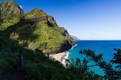 Beachview from Kalalau Trail (Tim&Elisa) Tags: hawaii coast na trail kauai pali kalalou