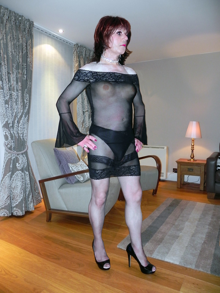 melissa in see thru dress (1) (Melissa TV) Tags: sexy stockings