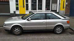 Audi Coup 2.3E (sjoerd.wijsman) Tags: auto holland cars netherlands car silver grey rotterdam gray nederland thenetherlands grau voiture vehicle holanda autos audi import paysbas coupe olanda coup fahrzeug niederlande grijs zuidholland zilver carspotting carspot audicoup zilvergrijs sidecode5 nvjj80 21012015