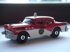 MATCHBOX 1956 BUICK CENTURY NO11 MBX COUNTY FIRE CHIEF 1/64 (ambassador84 OVER 5 MILLION VIEWS. :-)) Tags: buick matchbox diecast 1956buickcentury