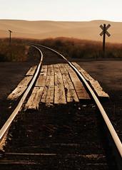 Amber Rails (girltwin) Tags: railroad dawn amber washington nikon crossing dusk rails paths palouse palousecountry girltwin