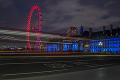 DSC_0156 copia (agnese_mari) Tags: street uk blue light red color bus london nikon colours londoneye luci londra buslane d3100