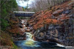 Sentinel Pine Bridge in Franconia Notch State Park New Hampshire (LeisurelyScientist.com) Tags: park bridge tree nature water leaves canon waterfall wooden spring rocks colorful stream state tripod border may newhampshire franconia hdr notch 2016 franconianotchstatepark canon6d tomwildoner leisurelyscientist leisurelyscientistcom