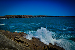 DSC_0078 (FlipperOo) Tags: voyage sea mer france color st rock port de nikon pierre vagues plage morbihan blanc roche arche quiberon instagramapp