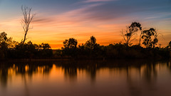 Lowlands Sunset (scotty-70) Tags: longexposure sunset reflection sony richmond nsw a7