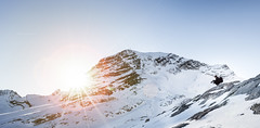 Photographer (Tim RT) Tags: winter sunset sky people snow beautiful germany landscape photography tim photographer time outdoor stripes sony hill great glacier fullframe rt a7 garmisch sera zugspitze sunstar a7ii fe1635mm ilce7m2