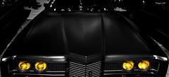Terror car (ericbaygon) Tags: black ford monochrome car yellow atc jaune nikon noir meeting voiture american custom phare v8 kustom tournai vhicule amricaine nikonpassion d300s