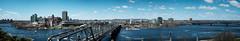Panoramique de La Ville de Gatineau (DHaug) Tags: panorama skyline ottawa panoramic qubec gatineau fujifilm ottawariver alexandrabridge nepeanpoint xpro2 xf35mmf14r