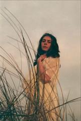 Golden Light (Film by Emily) Tags: film girl grass outside outdoors warm canonae1 outandabout goldenhour goldenlight whitedress emilyjacksonfilm