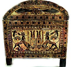 Tutankhamun's Wooden chest (Amberinsea Photography) Tags: egypt cairo tutankhamen tutankhamun cairomuseum woodenchest treasuresofancientegypt thecairomuseum amberinseaphotography