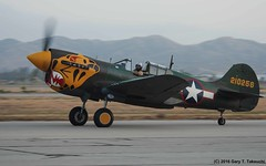 Planes of Fame Air Show 2016 - Curtiss P-40K Warhawk; s/n 42-10256, N401WH (g_takeuchi) Tags: california plane vintage airplane war aircraft aviation wwii airplanes aeroplane airshow worldwarii planes ww2 warbirds kittyhawk warbird aeroplanes worldwar2 chino cno curtiss tfl flyable airdisplay planesoffame p40 2016 warhawk airworthy p40k aleutiantigers n401wh texasflyinglegends 4210256 dsc5308c