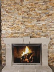 Vintage Gold Tailored Ledgestone (Buechel Stone) Tags: stone fireplace hearth mantel naturalstone stonemasonry ledgestone cutstone buildingstone stoneveneer thinveneer stonesurround buechelstone fullveneer cutstonesurround