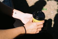 The Brightness of A Star (Ronen Chernyak) Tags: slr film coffee tattoo analog israel telaviv pentax kodak 35mmfilm filmcamera pentaxmesuper analogphotography tlv asa100 kodakfilm kodakproimage100 analogphoto proimage100 filmphotography colorfilm colornegative analogcamera 35mmcamera slrfilm filmnegative colorkodak filmpentax