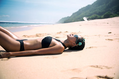 Beach vibes (yannis ye) Tags: travel light sea summer bali sun beach beautiful beauty indonesia photo model sand traveling indonesian pantai indonesiamodels
