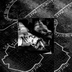 un regard etrange (zventure,) Tags: portrait blackandwhite paris monochrome nice noiretblanc montage intrieur regard labyrinthe modle villaarson zventure