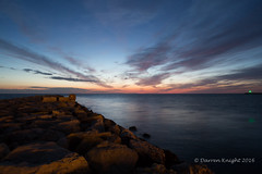 Denia groyne (TheAstroRV) Tags: sunset sea vacation sky sun beach clouds spain rocks groyne denia